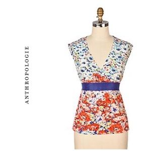 """Rare Anthropologie """"Candy Tuft"""" Top"""